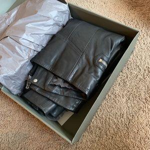 All Saints Jackets & Coats - AllSaints Leather Biker Jacket - Men
